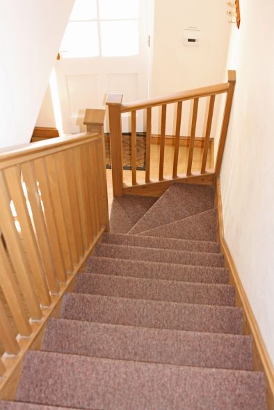Gremlin Lodge wooden stairs